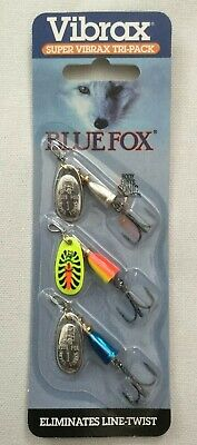 New Blue Fox Super Vibrax Tri-Pack Fishing Lure Spinners KITBF1