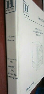 Honeywell Instructions For Visicorder Oscillograph Model 1912 Technical Manual