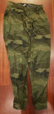Hollister Womens Camo Ultra High Rise Pants Size XSmall Green