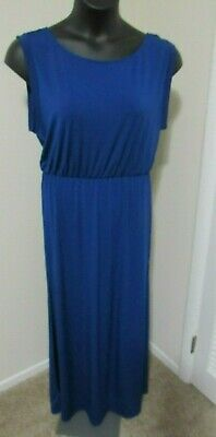 H&M Divided Long Maxi Dress Royal Blue Dress Size Large NWT