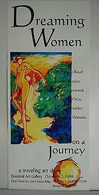 Serigraph Hand silk screen poster Dreaming Women Art Show 1990