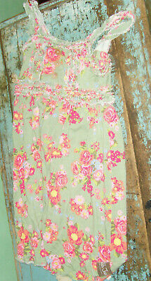 - Spring Summer light green floral roses girls dress size 10 Matilda Jane VGUC