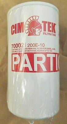 Cim-tek 10 Micron Farm Filter Wdrain For Diesel Gasolineethanol200e-10 70002