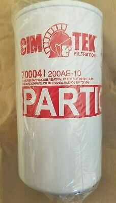 Cim-tek 10 Micron Farm Filter Wdrain For Dieselgasolineethanol200ae-10 70004