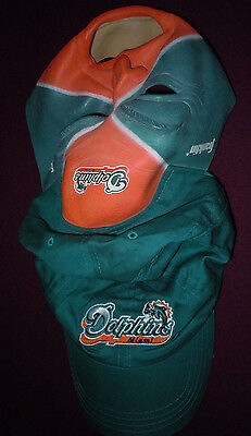 NLF Miami Dolphins Aqua-Coral Fan Face Mask/ Hat Cap MINT/NEW