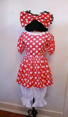 OOAK Vintage Cute Minnie Mouse Style Dress Cosplay Halloween Costume - Cute Mouse Kostüm
