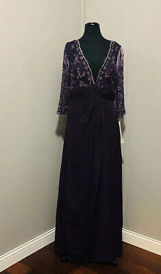 JORDAN CATERINA COLLECTION DRESS 4032 PURPLE SIZE 12 NWT MOTHER OF THE BRIDE Jordan Mother Dress