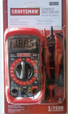 Ave Craftsman Multimeter Digital With 8 Functions 20 Ranges No Battery