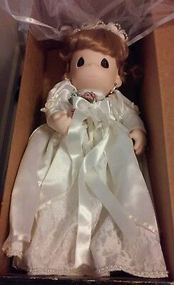 """Used 1998 Precious Moments Classic Bride Doll 16""""Spring Hope Limited Ed Of 2,500"""