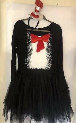 Halloween Costumes Dress In Black (Cat In The Hat Tutu Dress Costume Dr. Seuss Halloween Large)