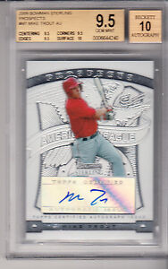2009 Bowman Sterling Prospects MIKE TROUT AUTO rookie BGS 9.5/10, CARD #BSP-MT