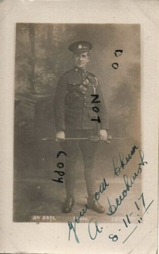 WW1 soldier Pte A Dewhurst CEF Canadian Expeditionary Force Nov 1917 Leicester ?