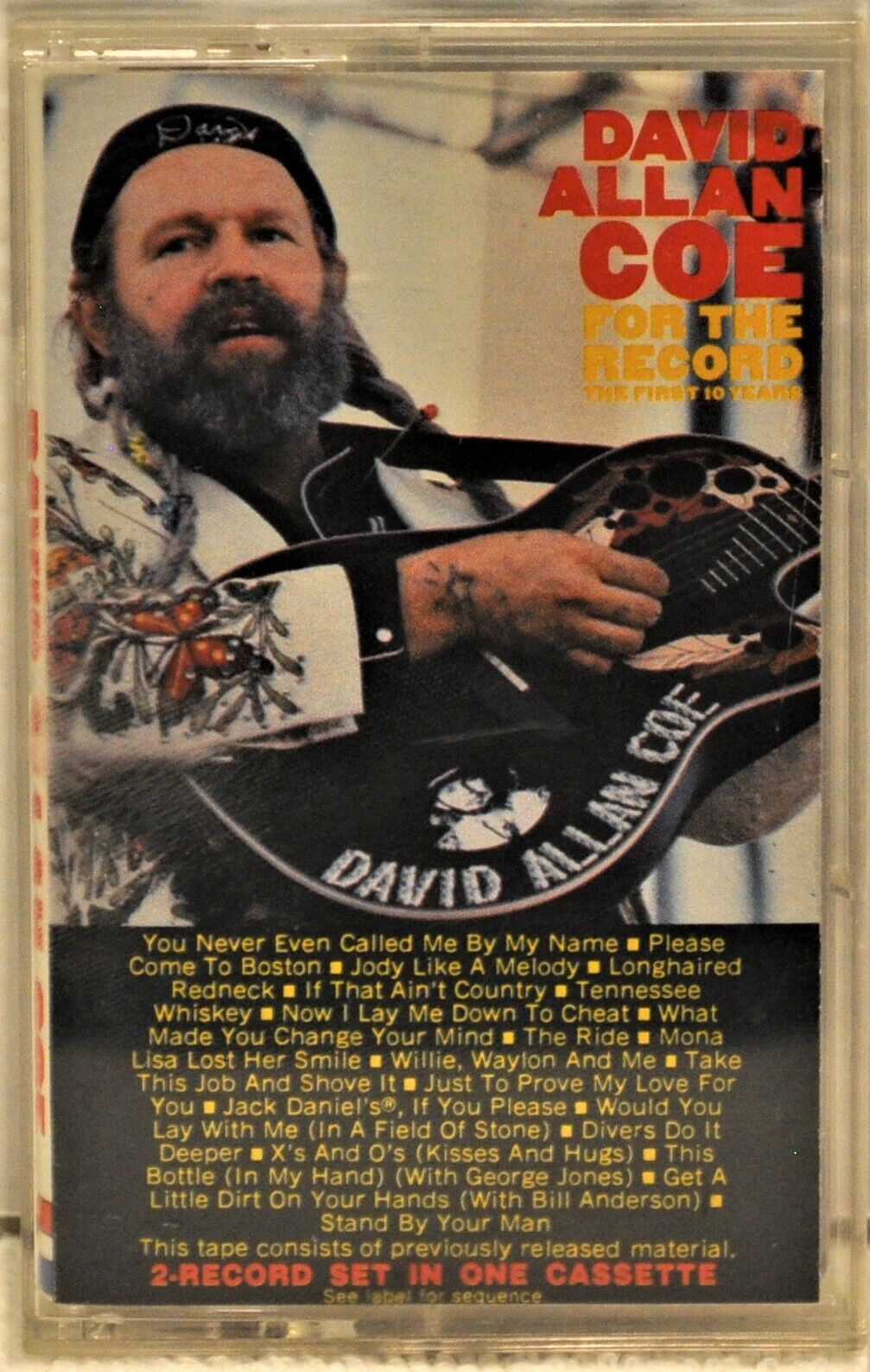 DAVID ALLAN COE For The Record The First 10 Years Cassette Columbia CGT39585 - $10.99