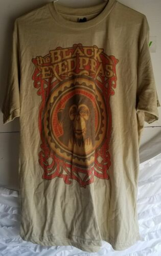 Black Eyed Peas Monkey Business Tan Shirt Top Adult 2XL Fergie Will.I.am AS IS