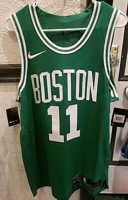dc79cd0b43e Authentic Nike Icon Boston Celtics Kyrie Irving Jersey 11 Green Mens Large  48