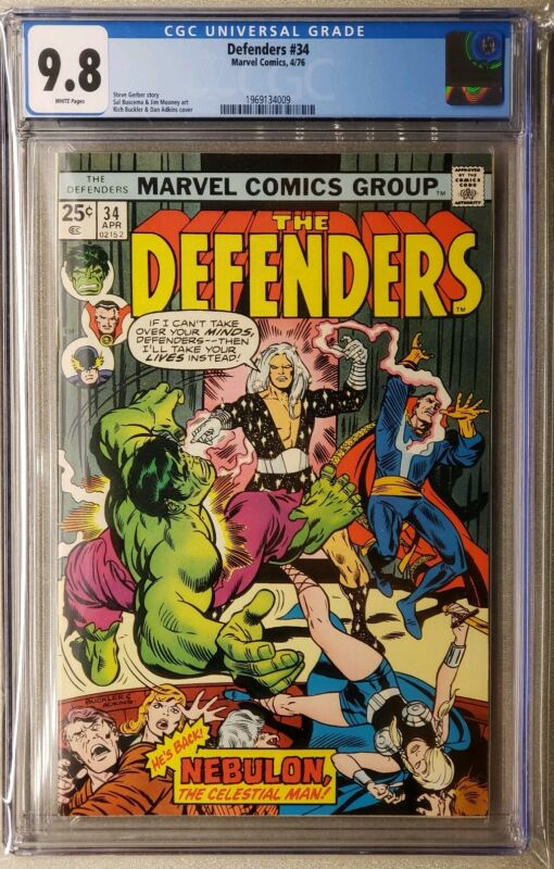 Defenders #34 cgc 9.8  White Pages Hulk