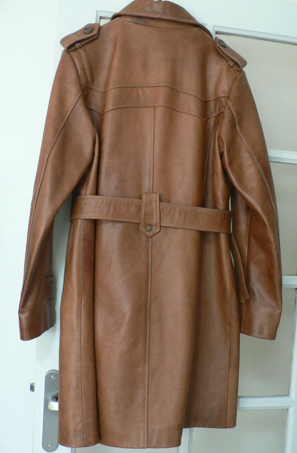 Manteau trench en cuir (42)