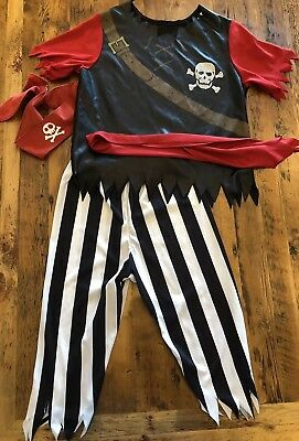 Boys Pirate King Costume Size Medium Complete 4 Piece Outfit Halloween Rubies ](Pirates Costumes For Boys)