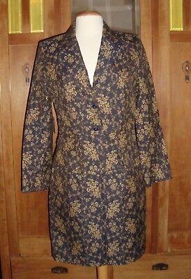 Laura Ashley tolles Kostüm 38 dunkelblau Blumen  - Laura Neues Kostüm