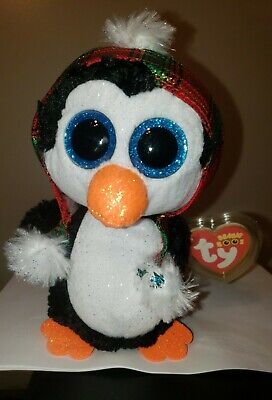 2020 NEW - Ty Beanie Boos - CHEER the Christmas Penguin (6 Inch) MWMT - IN HAND