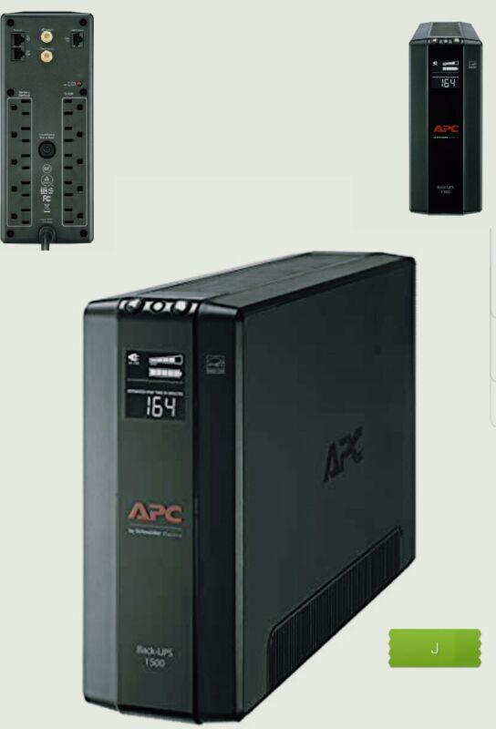 APC Battery Back UPS Pro BX1500M, Compact Tower, 1500VA/900W AVR, LCD, 120V. NEW