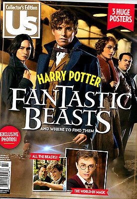 Us Magazine Collectors Edition  Harry Potter Fantastic Beasts New W  3 Posters