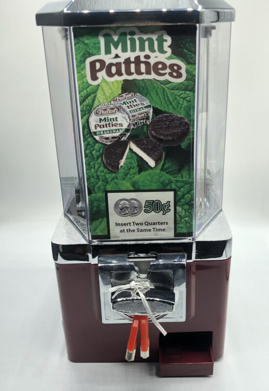 Pearson's Mint Patties Candy Dispenser Top W/ 2 Keys (NEW)