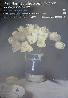 William Nicholson: Painter 'Landscape and Still Life' Original Exhibition Poster