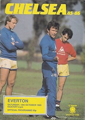 CHELSEA V EVERTON DIVISION ONE 12/10/85