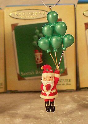 """Hallmark """"Santa's Balloon Tree"""" Miniature Ornament 2004"""