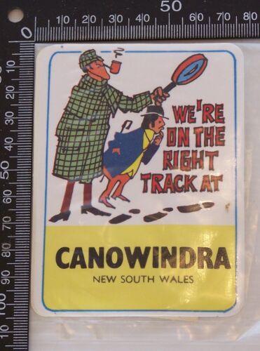 VINTAGE CANOWINDRA NSW AUSTRALIA SOUVENIR VINYL CAR BUMPER STICKER DECAL