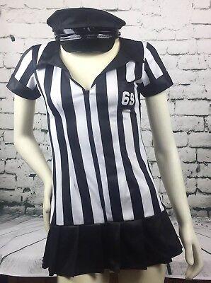 Leg Avenue Size S/M Black White Stripe Ref Style Halloween Dress & Hat - Halloween Costumes Black And White Stripes