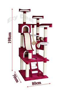 198cm Cat Tree Scratch Post Scratching Pole Tower Gym Toy * ED50 Thomastown Whittlesea Area Preview