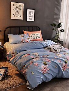 Flower Print Duvet Set
