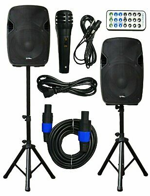 "2x Ignite Pro 10"" Pro Series Speaker DJ PA System Bluetooth Playback 1500W"