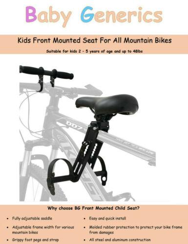 Baby Generics (BG) Front Mounted Child Seat for Mountain Bike
