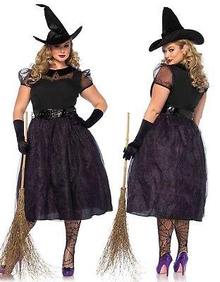 Leg Avenue Darling Spellcaster Vintage Witch Women Plus Size Costume 1x/2x - Leg Avenue Vintage Kostüm
