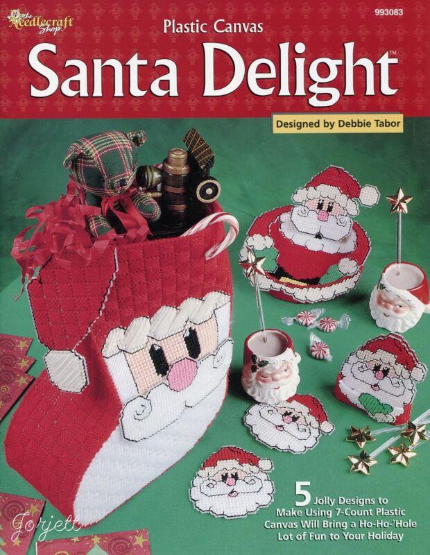 Santa Delight, Christmas Coaster Stocking & More plastic canvas pattern book NEW