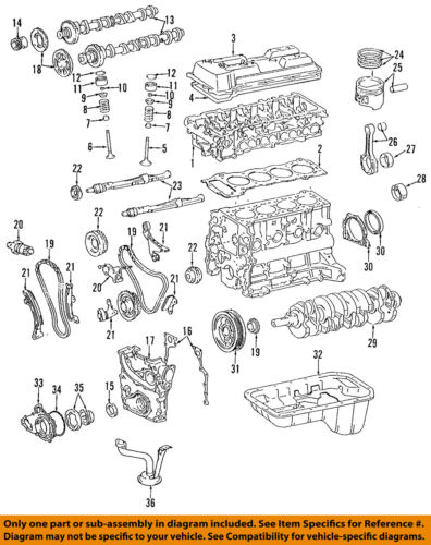 [SCHEMATICS_4HG]  TOYOTA OEM 95-04 Tacoma-Engine Oil Pump Gasket 1518875021 | eBay | Toyota Engine Diagram |  | eBay