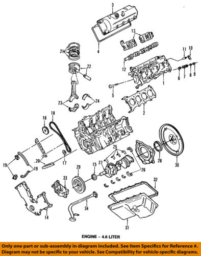 ford 4 6 v8 engine diagram ford oem engine harmonic balancer f3az6316a ebay  ford oem engine harmonic balancer