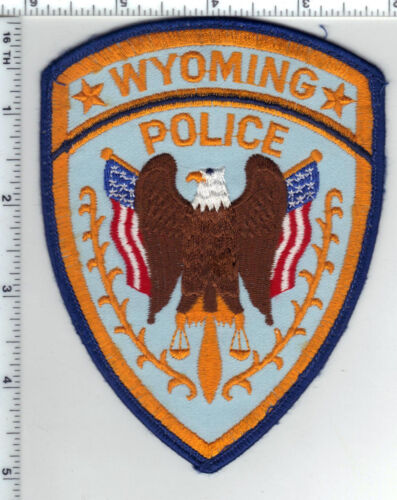 Wyoming Police (Michigan) Uniform Take-Off Shoulder Patch from the 1980