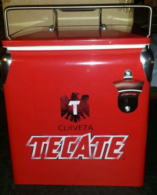 Tecate Cerveza beer Retro Metal Cooler Ice Box new in box