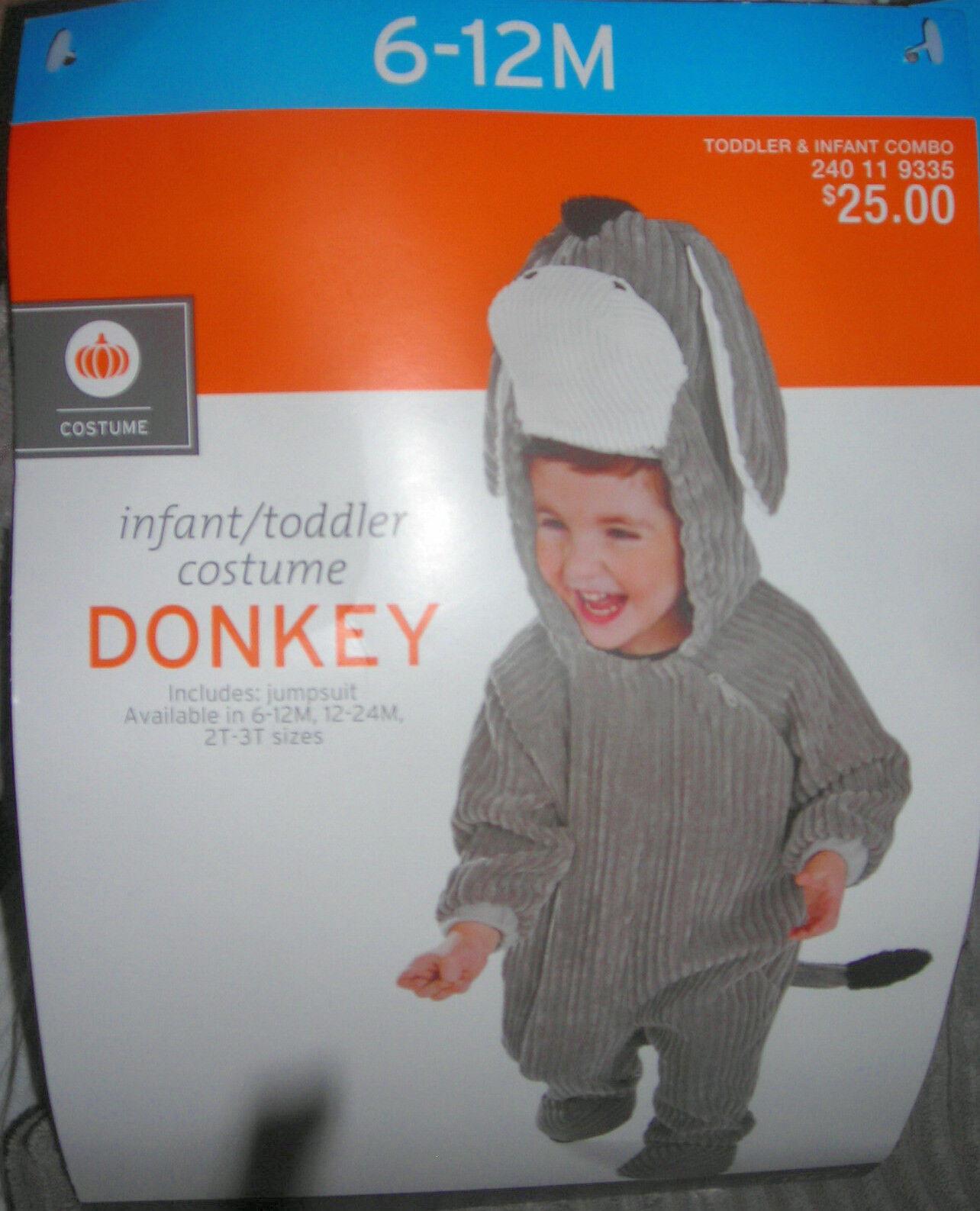 Donkey Corduroy Halloween Costume Or Dress Up Size: 6-12mo