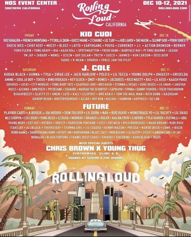 1x GA Rolling Loud California ticket | Dec 2021 | 100% Authentic (2 AVAILABLE)