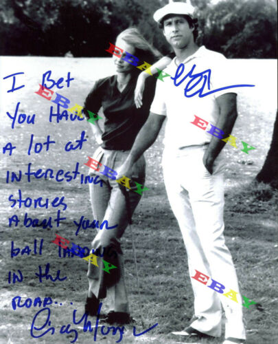 Chevy Chase & Cindy Morgan Caddyshack   Autographed Signed 8x10 Photo Reprint