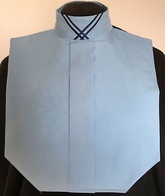 English Hunt Seat Ratcatcher Med Blue Show Bib Dickie With Collar Embellishment