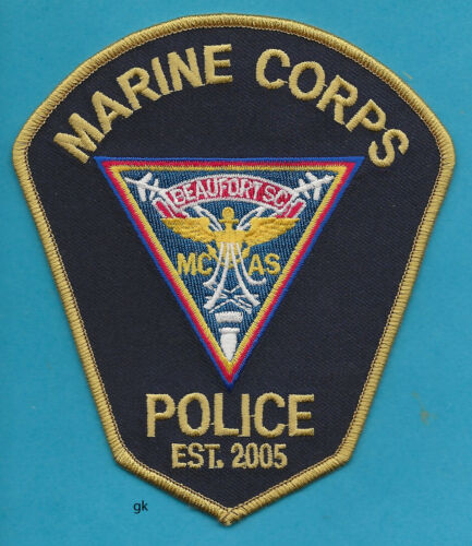 USMC  MARINE AIR STATION BEAUFORT SOUTH CAROLINA POLICE SHOULDER  PATCH