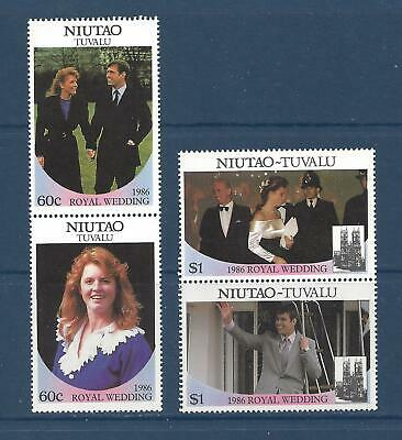 TUVALU - NIUTAO - 51-52 - VERT PRS -  MNH - 1986 - ROYAL WEDDING -