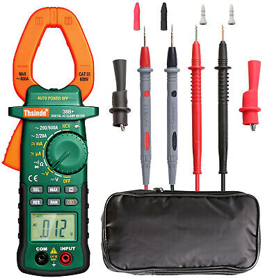 Clamp Meter Multimeter Tester Voltage Rms Amp True Test Digital Ac Dc Volt