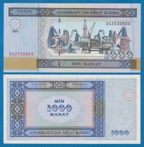 Azerbaijan 1000 Manat P 23 2001 UNC Low Shipping! Combine FREE!